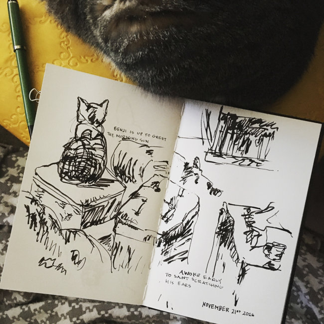 Pen and ink art journal sketch | Lydia Makepeace