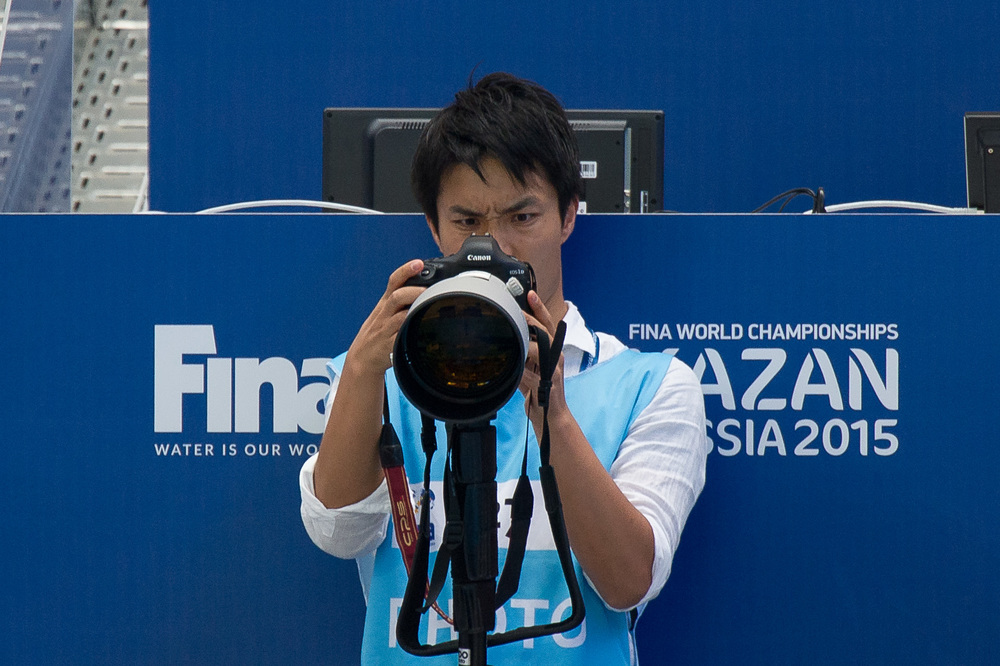Angry photographer