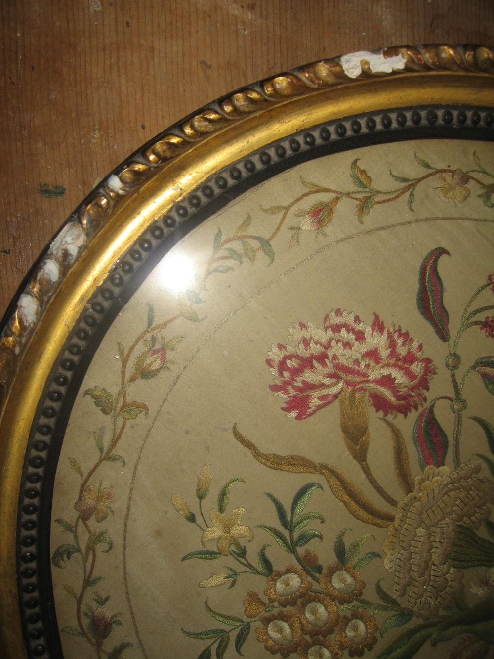 Water gilded relief - before