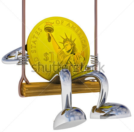 Coin, having a swing