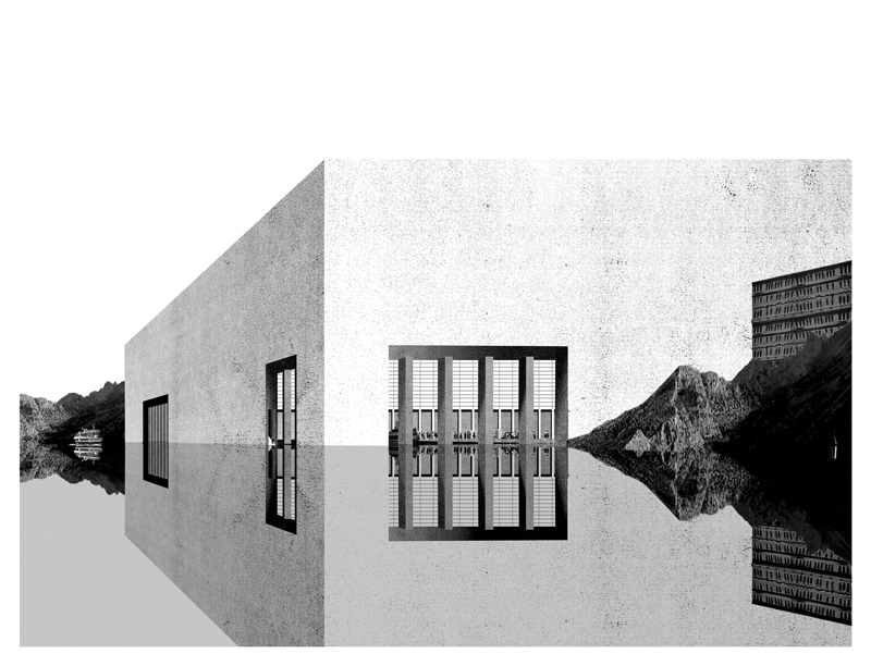 Cité refuge, Ceuta, 2012 - Collage - 52 x 68 cm - Edition of 8 + 2 AP