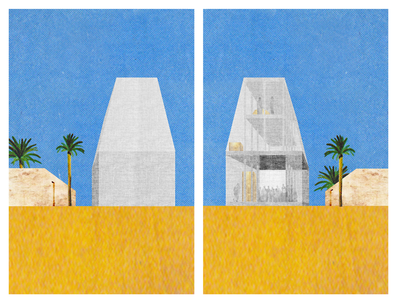 D  ar, Bahrain, 2012   - Collage - 56 x 68 cm - Edition of 8 + 2 AP