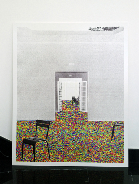 OFFICE KGDVS, After the party, Venice, 2008 - collage printed on white lacquered aluminium, 105x85 cm