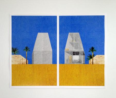 OFFICE KGDVS,  Dar, Bahrain, 2012  - collage, 52x68 cm