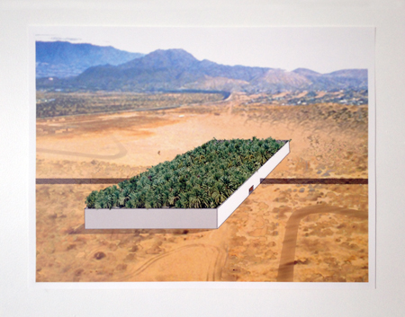 OFFICE KGDVS,  Border crossing, MEXICO-USA, 2005  - collage, 52x68 cm