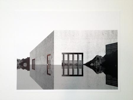 OFFICE KGDVS,  Cité de refuge, Ceuta, 2007  - collage, 52x68cm