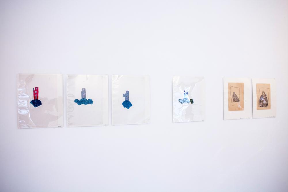 Peter Märkli, untitled drawings, 1980-1999, pastel on paper