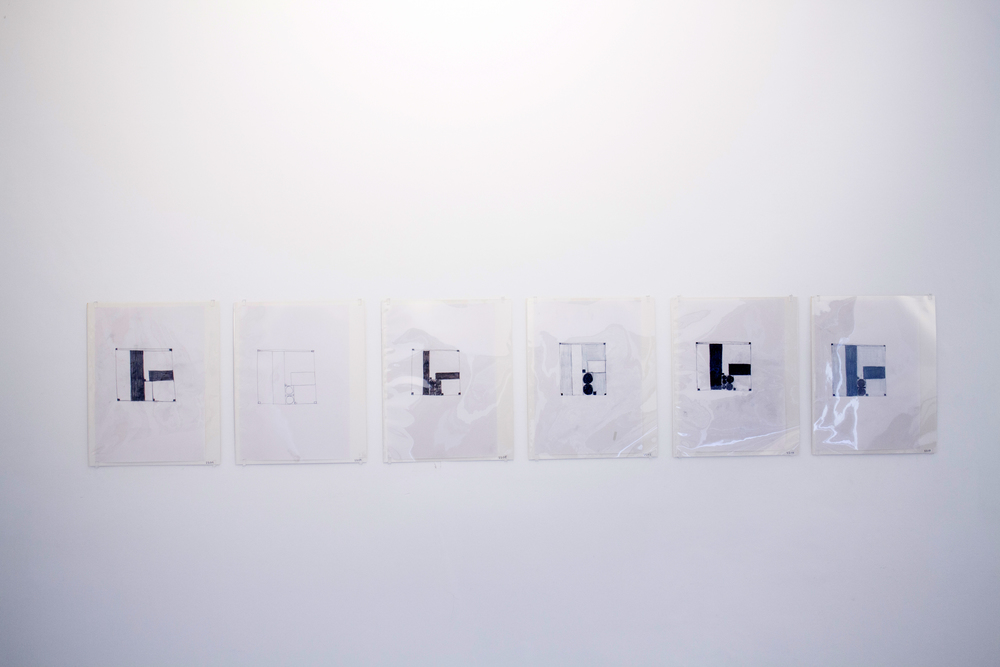 Peter Märkli, untitled drawings, 2000-2013, pastel on paper, 21 x 29,7 cm each