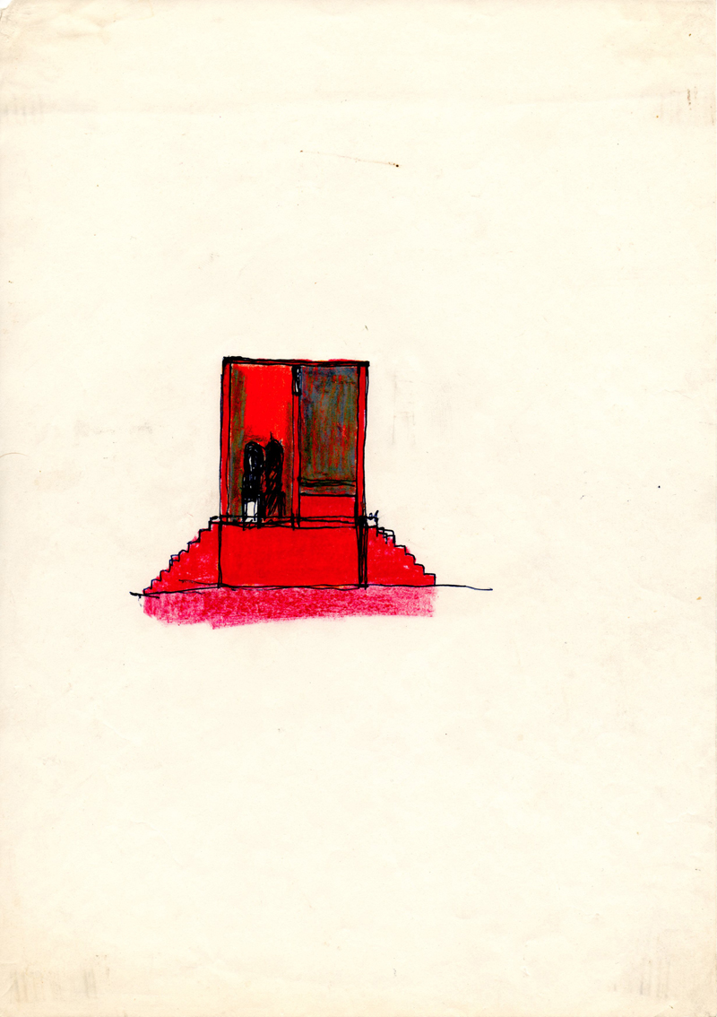 1003, 1980-1999, pastel on paper, 21 x 29,7 cm