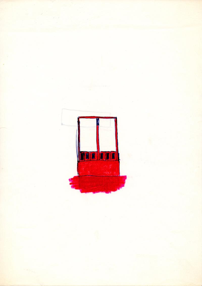 1002, 1980-1999, pastel on paper, 21 x 29,7 cm