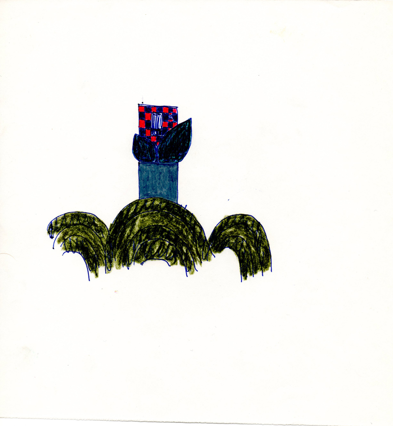 1037, 1980-1999, pastel on paper, 21 x 22,5 cm