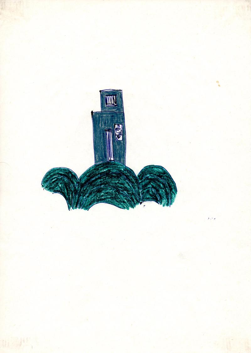 1101, 1980-1999, pastel on paper, 21 x 29,7 cm