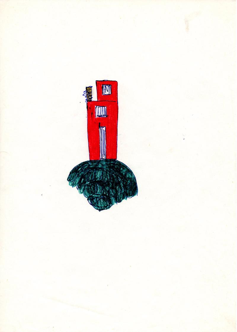 1100 , 1980-1999, pastel on paper, 21 x 29,7 cm