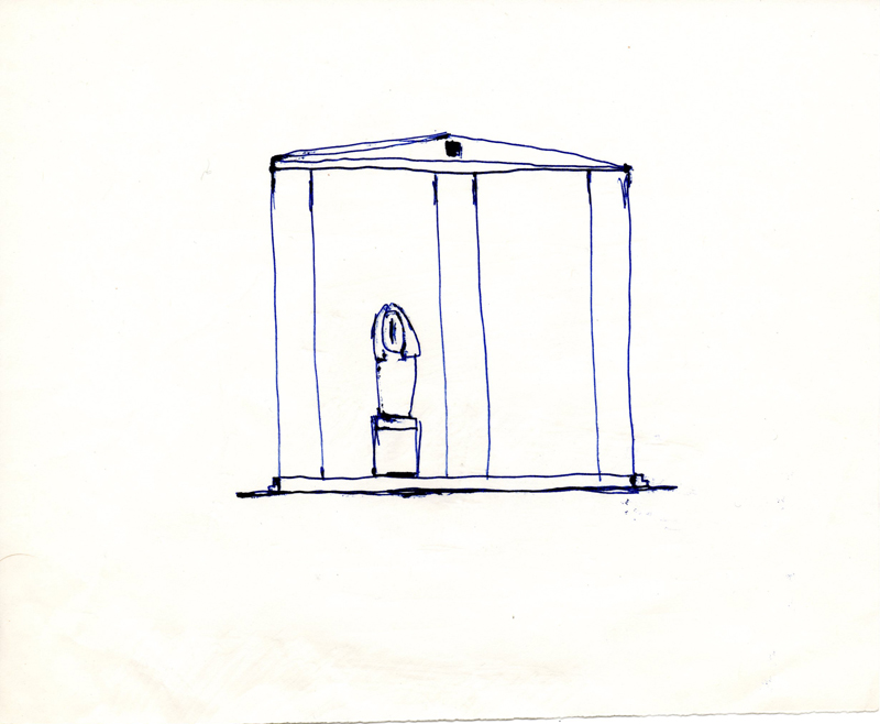 1159, 1980-1999, pen on paper, 21 x 17,2 cm