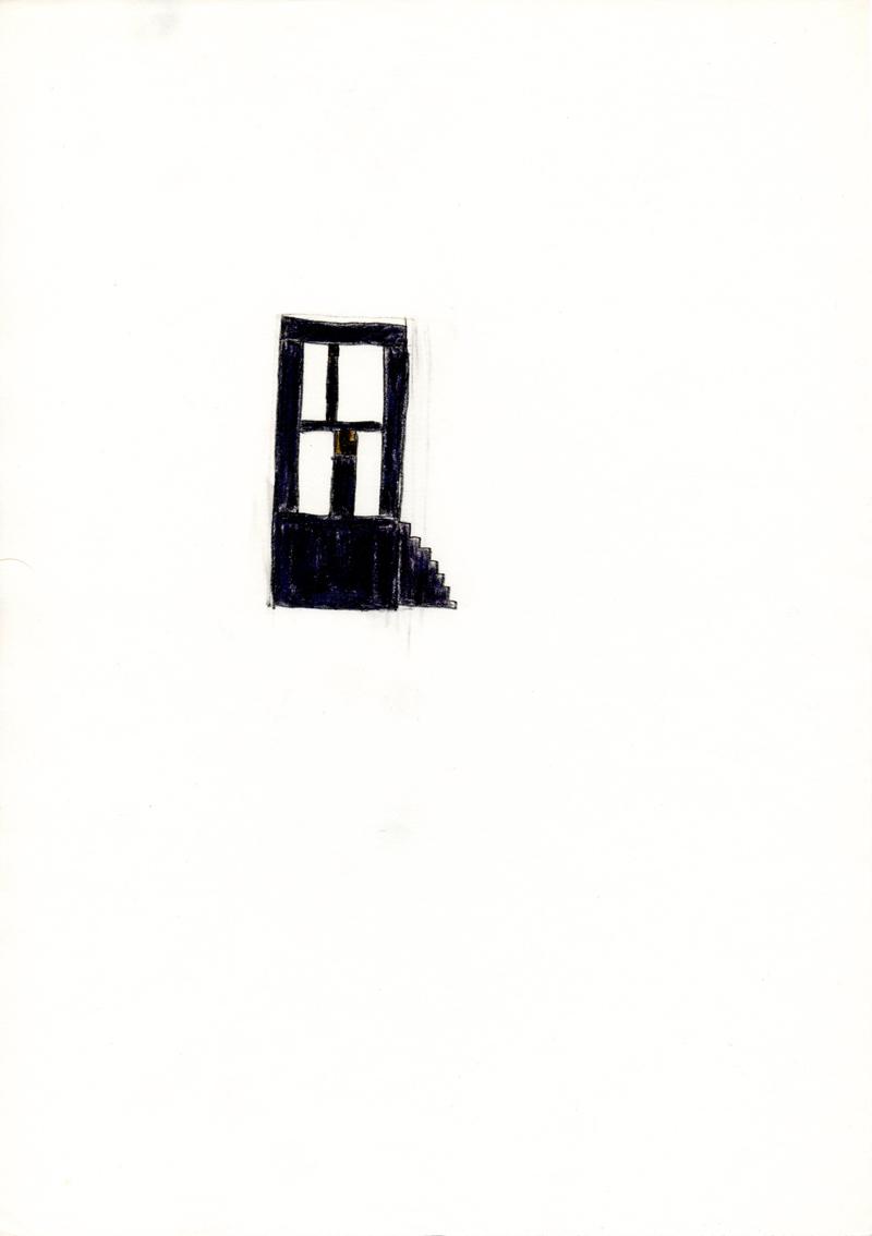 1368 , 1980-1999, pastel on paper, 21 x 29,7 cm