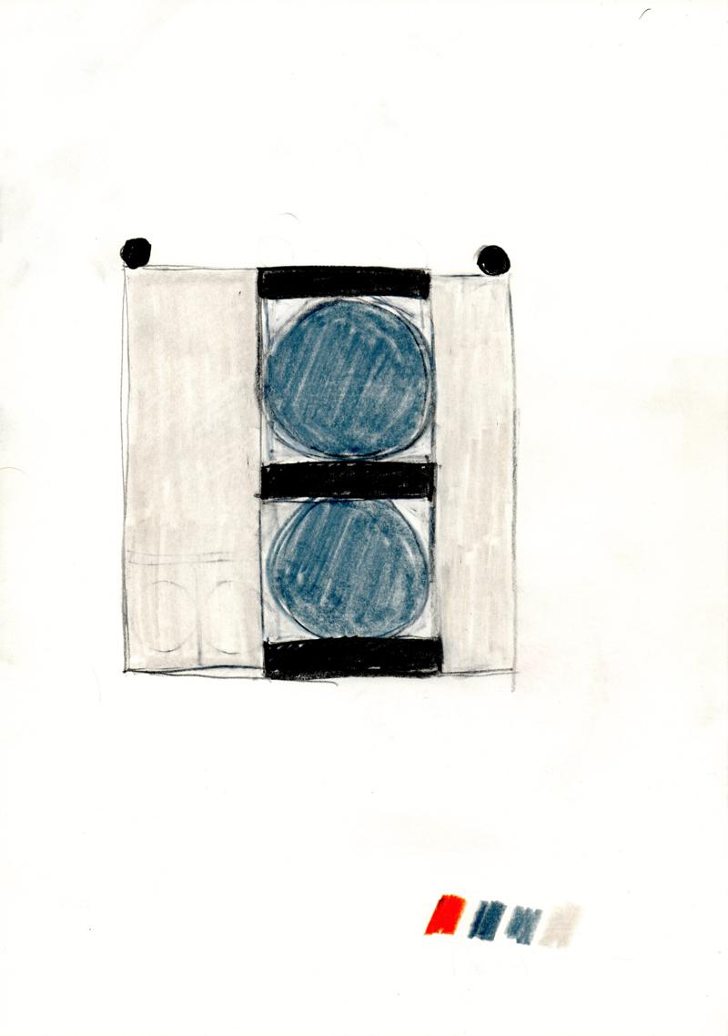 2046 , 2000-2013, pastel on paper, 21 x 29,7 cm