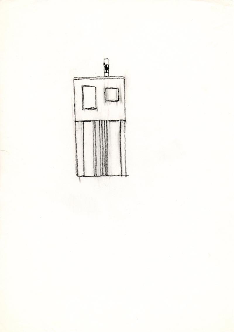 1222 , 1980-1999, pastel on paper, 21 x 29,7 cm