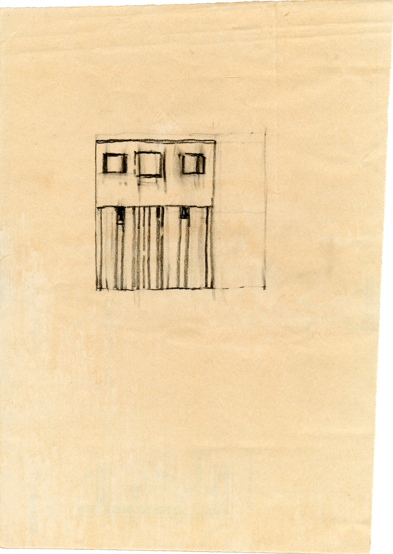 1221, 1980-1999, pastel on paper, 20 x 28 cm