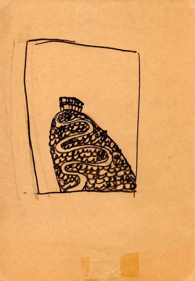 1049, 1980-1999, pastel on paper, 14,7 x 21 cm