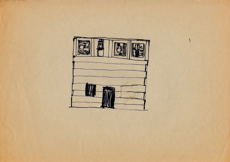 1117 , 1980-1999, pen on paper, 29,7 x 21 cm