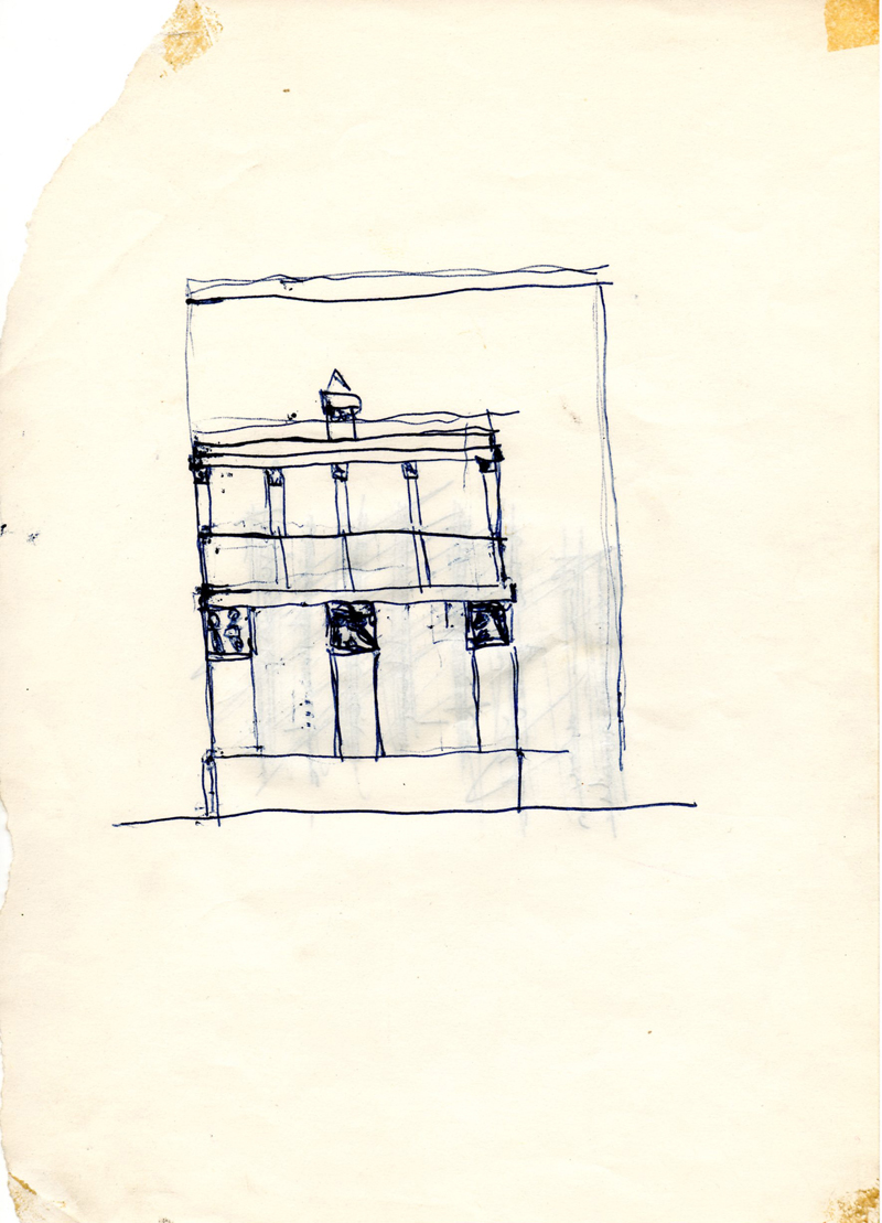 1062, 1980-1999, pen on paper, 15,2 x 21 cm