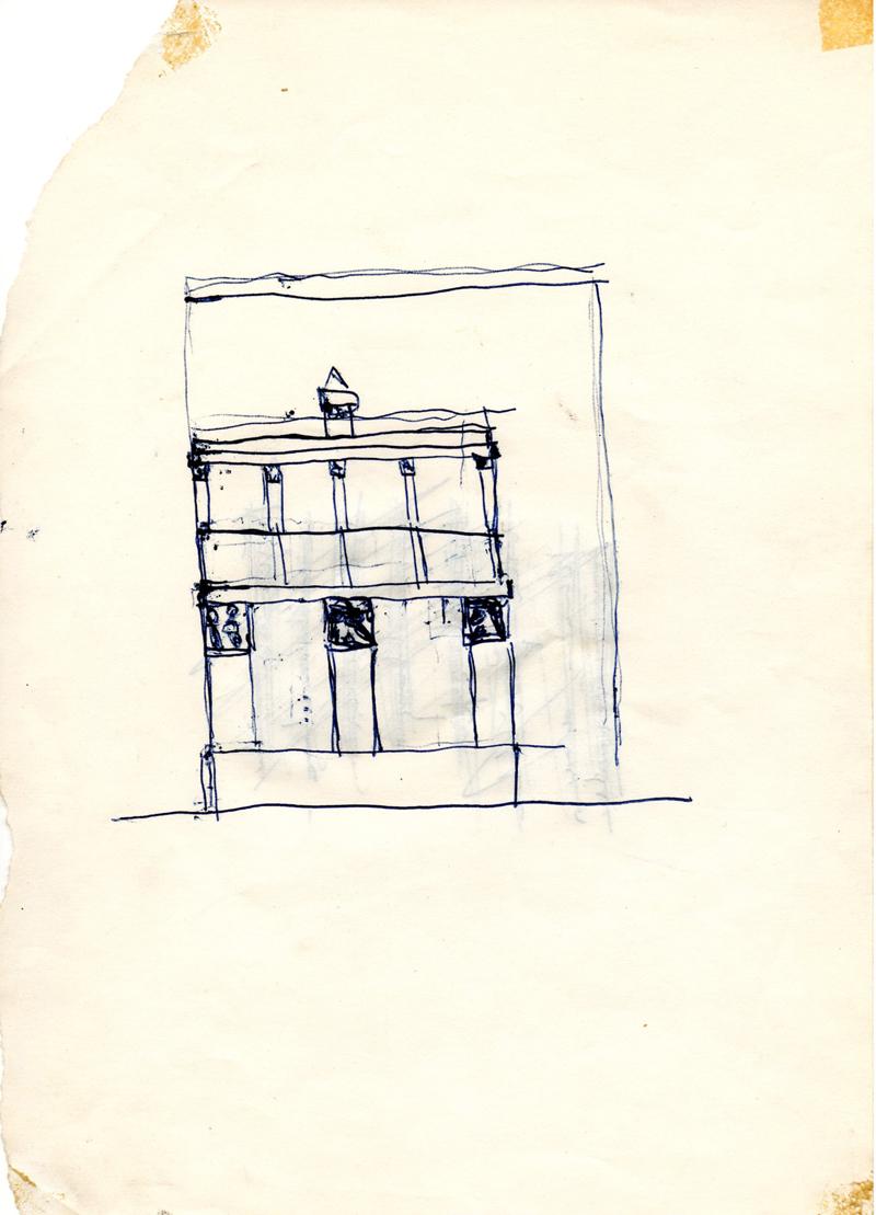 1062, 1980-1999, pen on paper, 15,2 x 21 cm