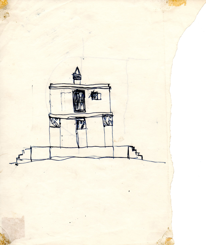 1063, 1980-1999, pen on paper, 17,8 x 21 cm