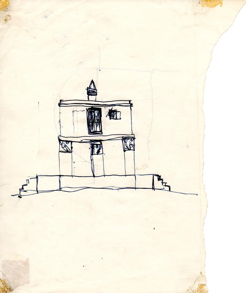 1063, 1980-1999, pen on paper, 17,8 x 21 cm