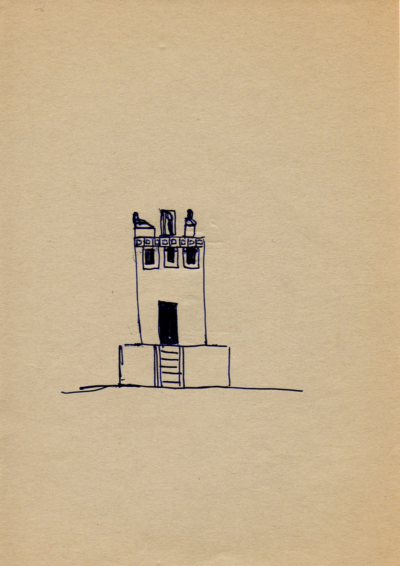 1064, 1980-1999, pen on paper, 14,8 x 21 cm