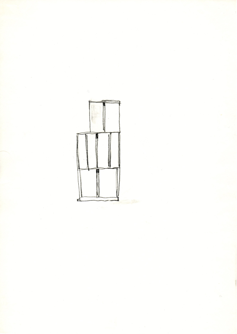 1261 , 1980-1999, pastel on paper, 21 x 29,7 cm