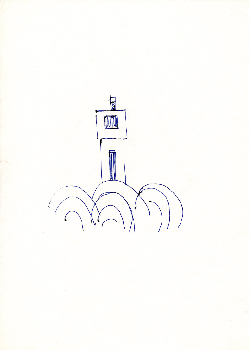 1091, 1980-1999, pen on paper, 21 x 29,7 cm