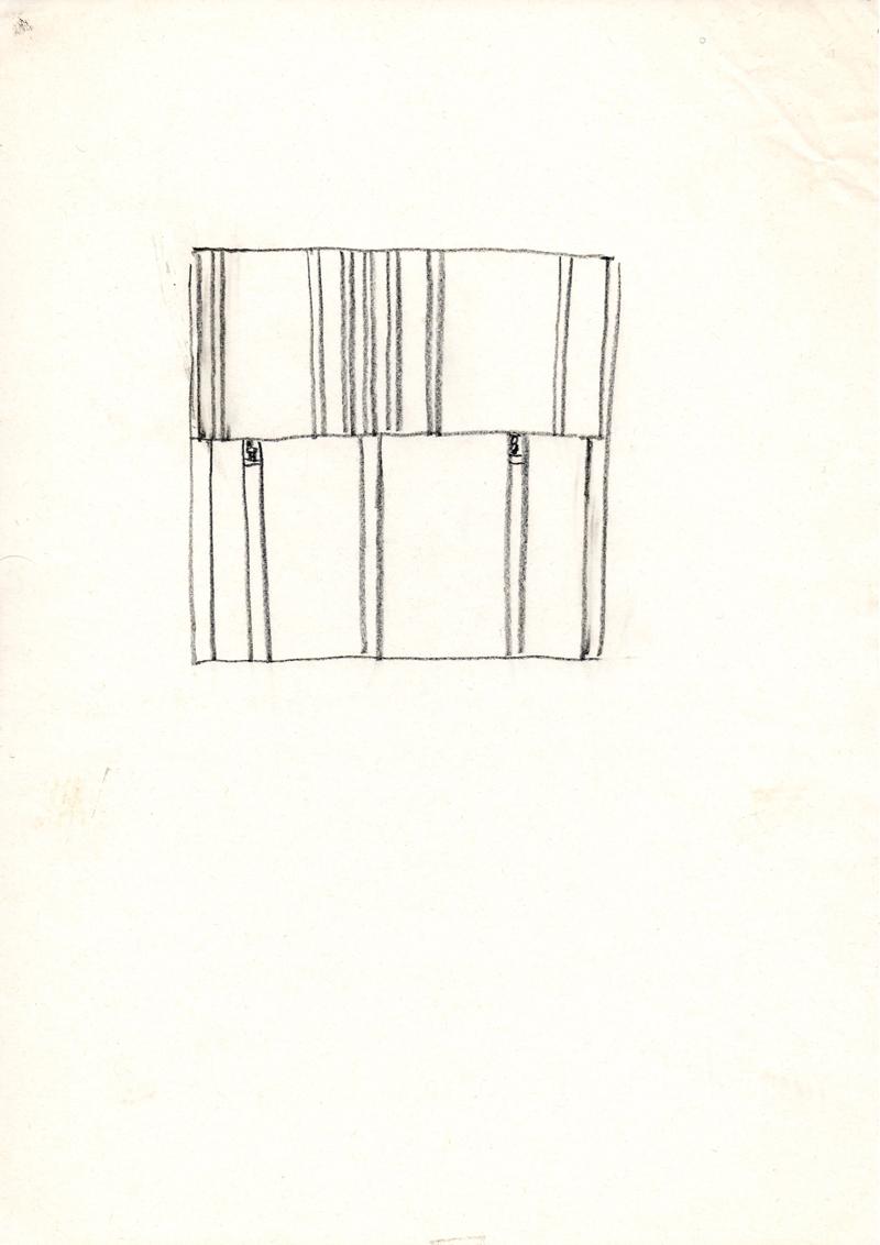 1242 , 1980-1999, pastel on paper, 21 x 29,7 cm