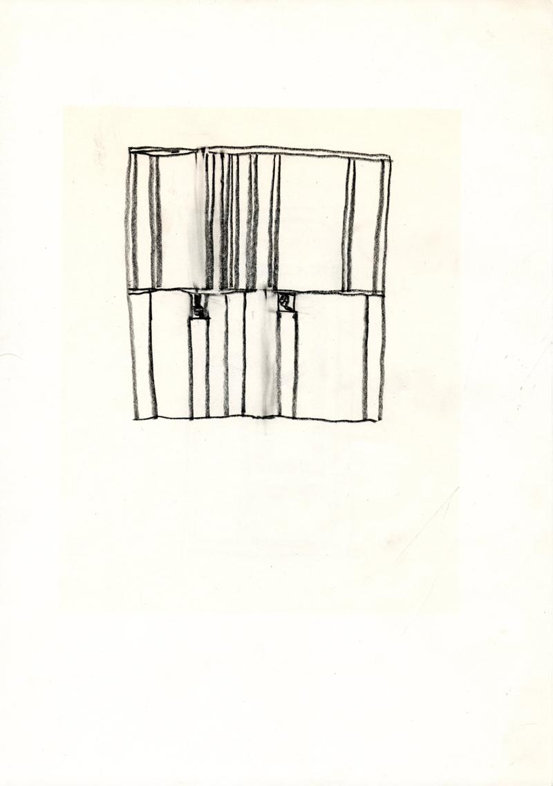 1245 , 1980-1999, pastel on paper, 21 x 29,7 cm