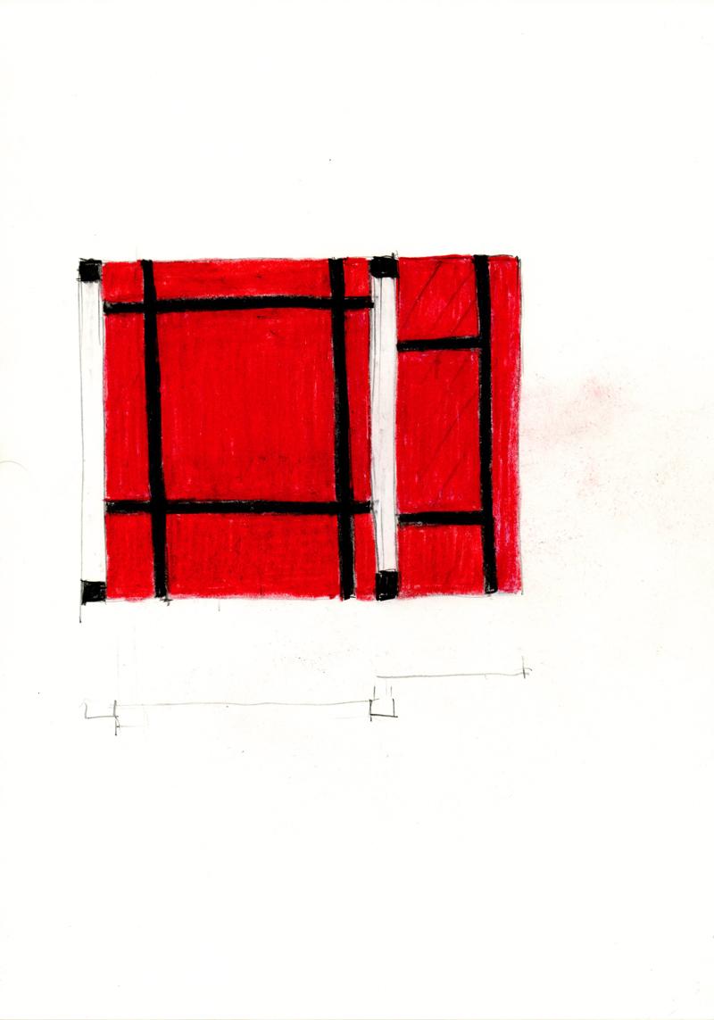 2036 , 2000-2013, pastel on paper, 21 x 29,7 cm