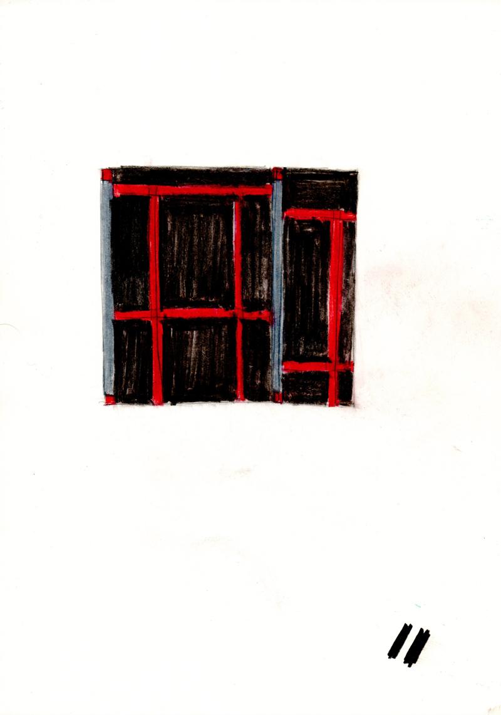 2031 , 2000-2013, pastel on paper, 21 x 29,7 cm