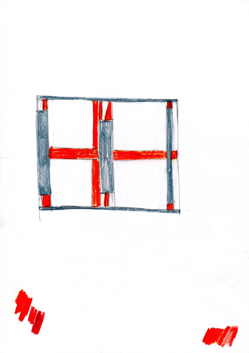 2030 , 2000-2013, pastel on paper, 21 x 29,7 cm