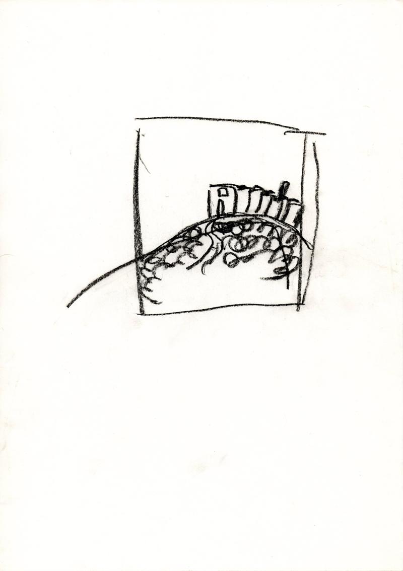 1050 , 1980-1999, pastel on paper, 21 x 29,7 cm