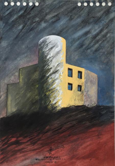 Cadaques - 2, 1986, gouache, 23 x 16 cm