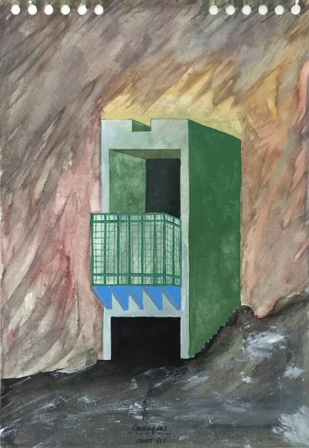 Cadaques - 3 , 1986, gouache, 23 x 16 cm