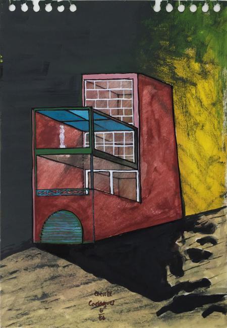 Cadaques - 4 , 1986, gouache, 23 x 16 cm