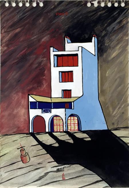 Cadaques - 5, 1986, gouache, 23 x 16 cm