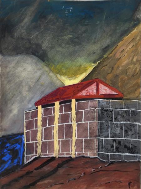 Lukamanier Pass - 2 , 1985, gouache, 24 x 18 cm