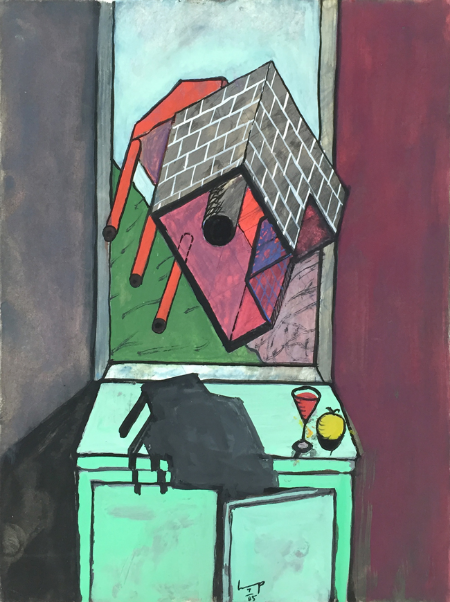 Lukamanier Pass - 4 , 1985, gouache, 24 x 18 cm
