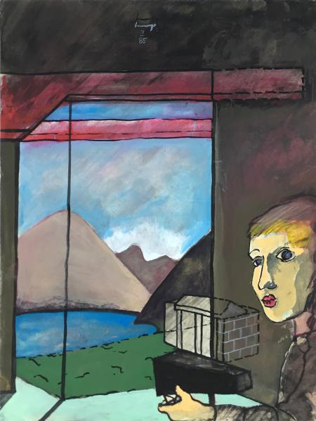 1234 House - 1, 1985, gouache, 24 x 18 cm