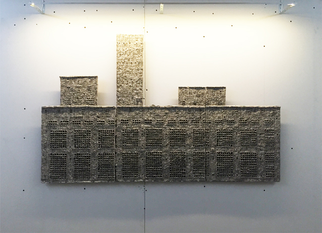 Untitled, 2014, unfired clay, 98 x 150 cm