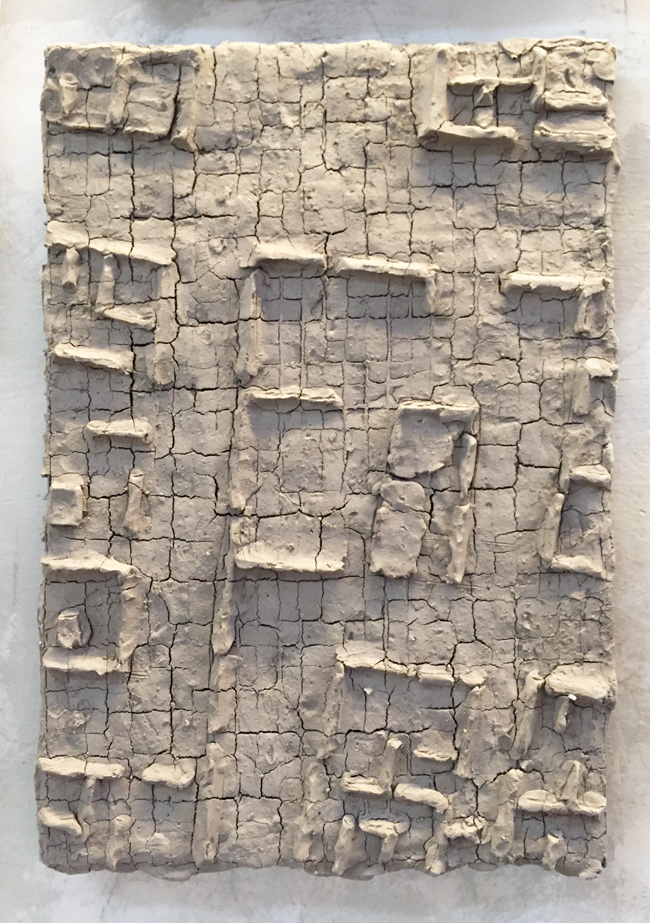 Untitled-11 , 2014, unfired clay, 36 x 26 cm