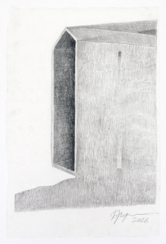 Untitled, 2016, pencil on tracing paper, 49 x 32 cm