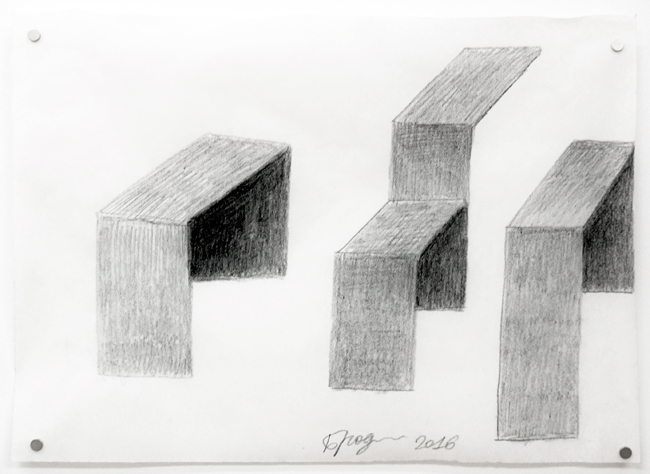 Untitled , 2016, pencil on tracing paper, 23 x 32 cm