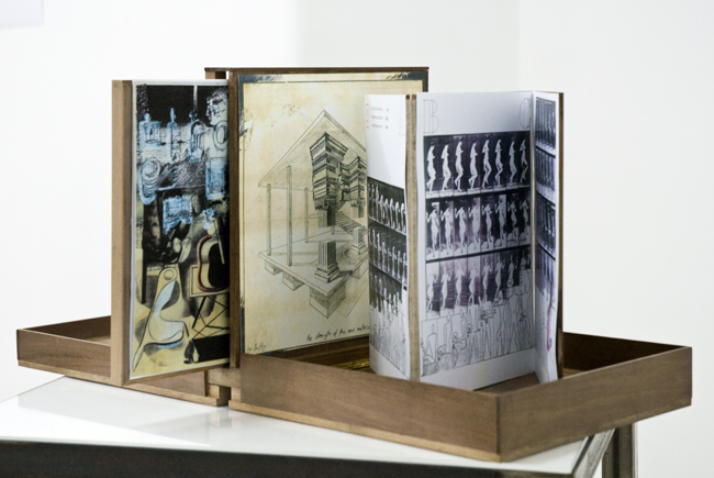 Valise in Walnut , 2016, walnut, paper montages, edition of 5, different content