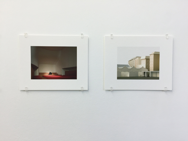 Exhibition view, from left to right: Cultural and Tourist Centre Ascona (2004), Musée cantonal des Beaux-Arts Lausanne (2011),  photographs, 2017, 16.8 x 21 cm, each is an edition of 7.